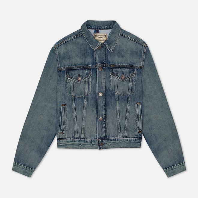 Женская джинсовая куртка Polo Ralph Lauren Bear Trucker Storms Wash Medium Indigo