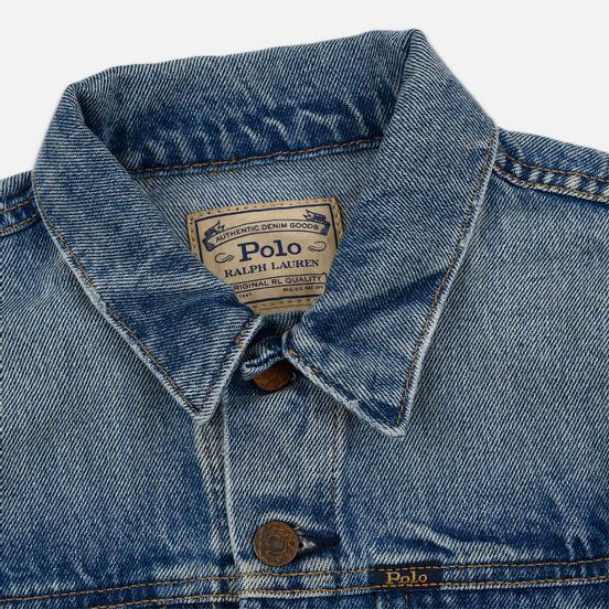 Женская джинсовая куртка Polo Ralph Lauren Denim Trucker 13.5 Oz Fontaine Wash Light Indigo