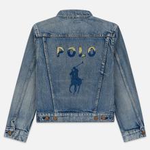 Женская джинсовая куртка Polo Ralph Lauren Denim Trucker 13.5 Oz Fontaine Wash Light Indigo фото- 6