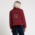 Женская джинсовая куртка Tommy Jeans Crest Corduroy Trucker Cabernet фото- 3