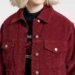 Женская джинсовая куртка Tommy Jeans Crest Corduroy Trucker Cabernet фото- 4