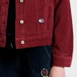Женская джинсовая куртка Tommy Jeans Crest Corduroy Trucker Cabernet фото- 5