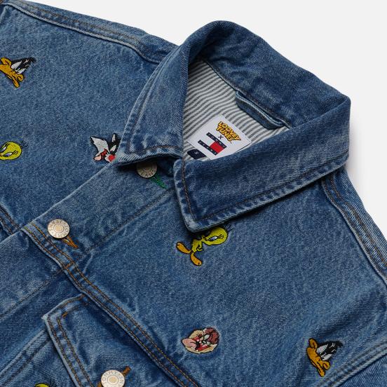 Женская джинсовая куртка Tommy Jeans x Looney Tunes Denim Light Blue Wash