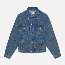 Женская джинсовая куртка Tommy Jeans x Looney Tunes Denim Light Blue Wash
