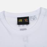 Женская футболка adidas Originals x Pharrell Williams HU Loose White фото- 1