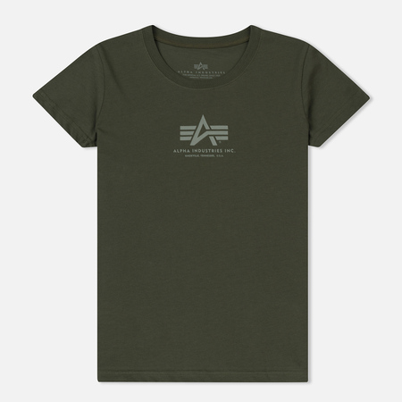 Женская футболка Alpha Industries Basic Dark Olive