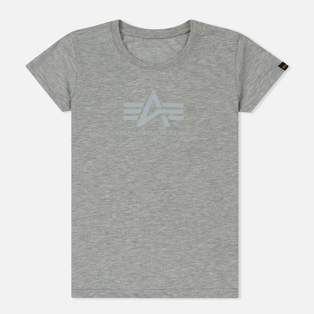 Женская футболка Alpha Industries Basic Grey Heather