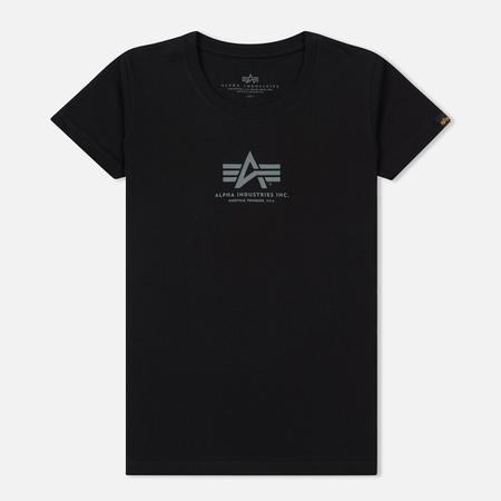 Женская футболка Alpha Industries Basic Black