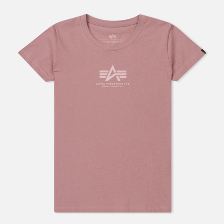 Женская футболка Alpha Industries Basic Silver Pink