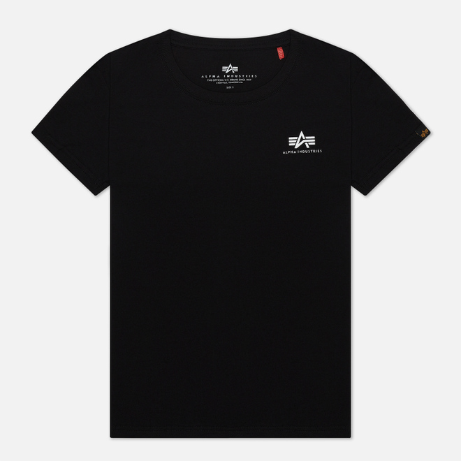 Женская футболка Alpha Industries Basic T Small Logo Black