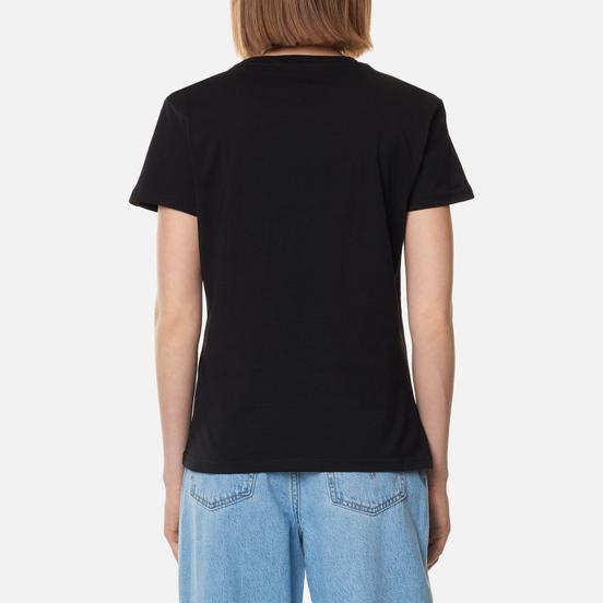 Женская футболка Alpha Industries Basic T Small Logo Black