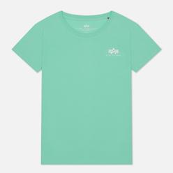 Женская футболка Alpha Industries Basic T Small Logo Pastel Mint