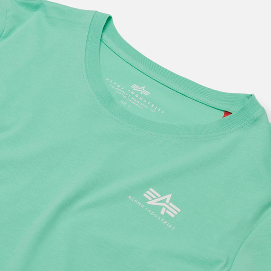Женская футболка Alpha Industries Basic T Small Logo Pastel Mint