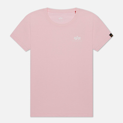 Женская футболка Alpha Industries Basic T Small Logo Pastel Pink
