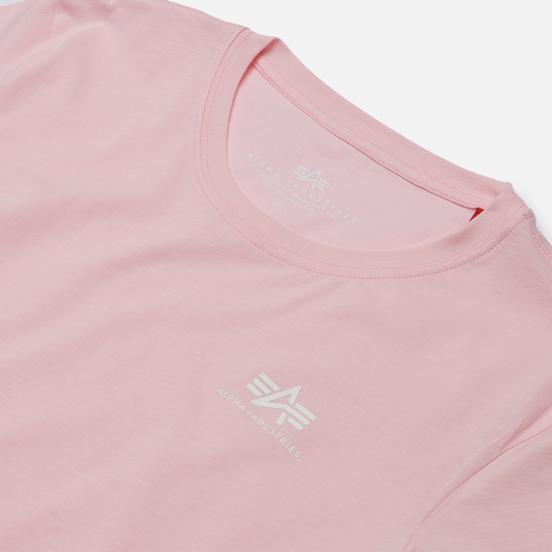 Женская футболка Alpha Industries Basic T Small Logo Pastel Pink