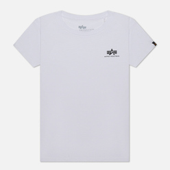 Женская футболка Alpha Industries Basic T Small Logo White
