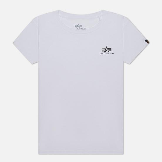 Женская футболка Alpha Industries Basic T Small Logo White