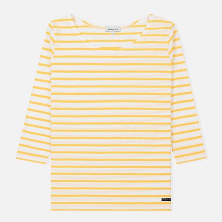 Женская футболка Armor-Lux Cap Coz Breton Milk/Yellow Cytise