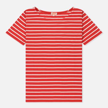 Женская футболка Armor-Lux Mariniere Heritage Dark Red/Milk