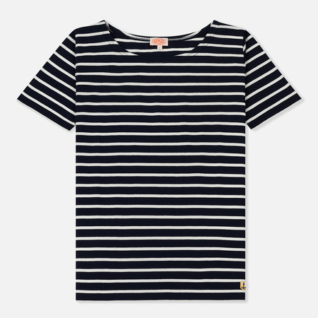 Женская футболка Armor-Lux Mariniere Heritage Marine Deep/Milk