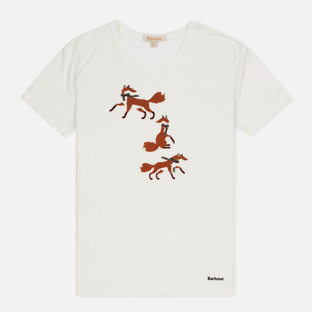 Barbour Brae Fox Women's t-shirt White