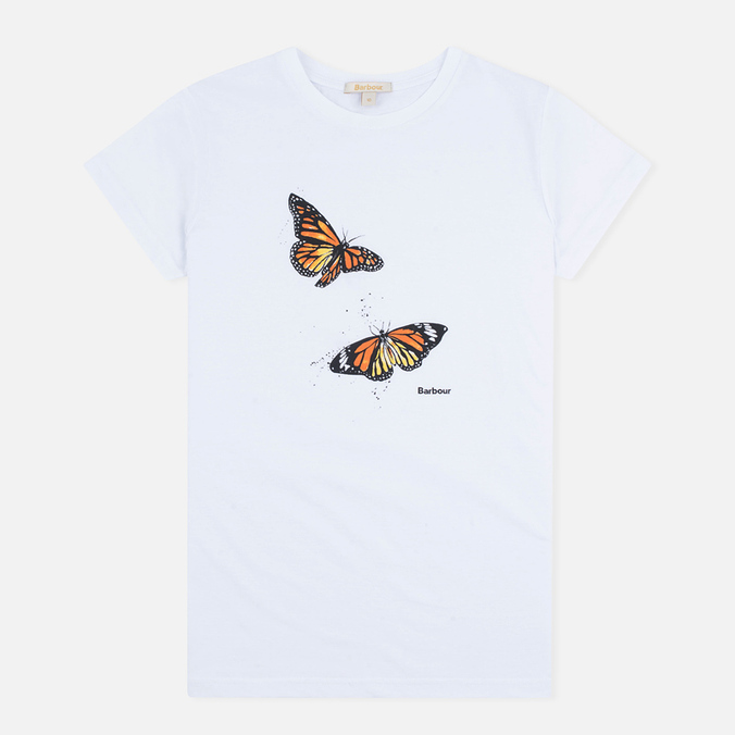 Женская футболка Barbour Butterfly White