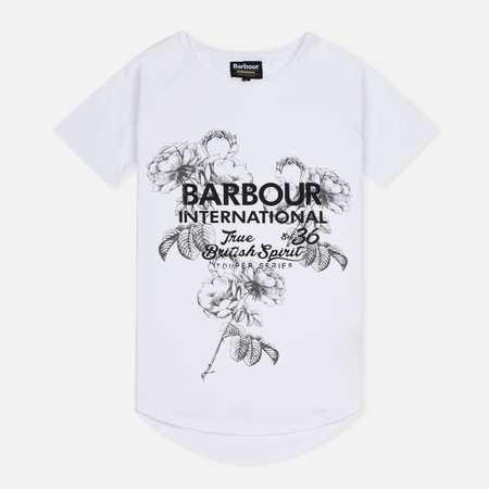 Barbour International Women's t-shirt Chicane White