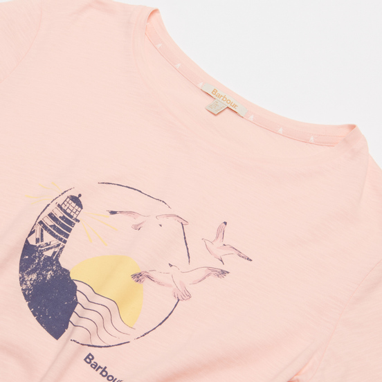 Женская футболка Barbour Overland Pale Coral