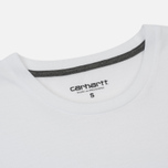 Женская футболка Carhartt WIP W' Carrie Pocket White/Dark Grey Heather фото- 1