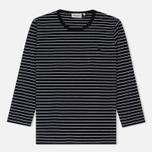 Женская футболка Carhartt WIP W' 3/4 Cullen Stripe Black/White фото- 0