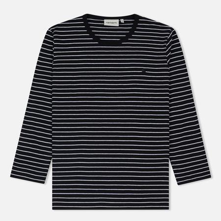 Женская футболка Carhartt WIP W' 3/4 Cullen Stripe Black/White