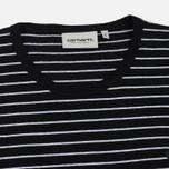 Женская футболка Carhartt WIP W' 3/4 Cullen Stripe Black/White фото- 1