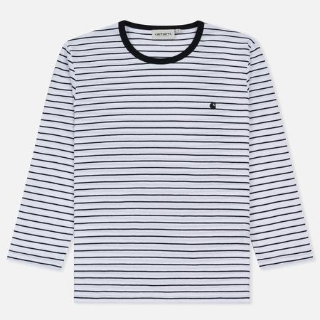 Женская футболка Carhartt WIP W' 3/4 Cullen Stripe White/Black
