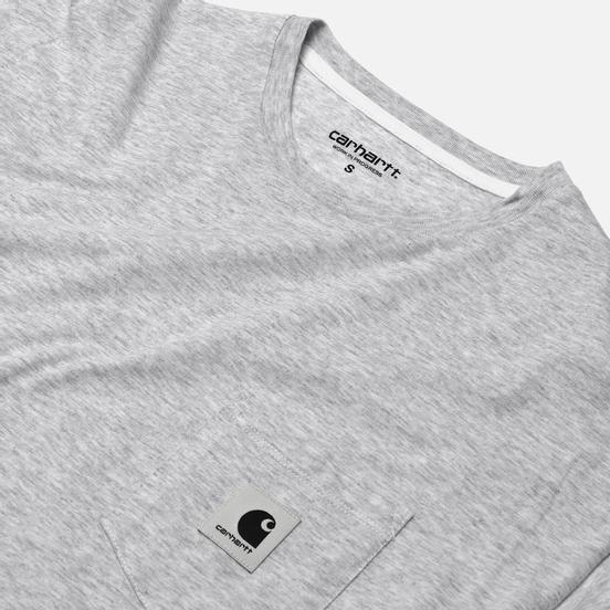 Женская футболка Carhartt WIP W' Carrie Pocket Ash Heather/White