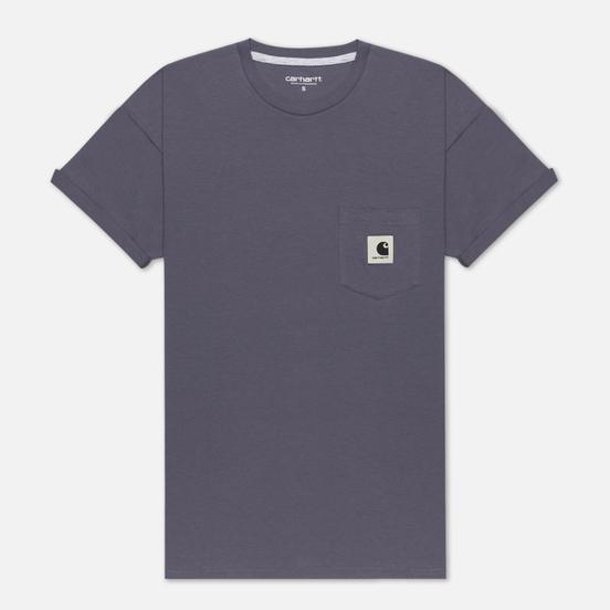 Женская футболка Carhartt WIP W' Carrie Pocket Decent Purple/Ash Heather