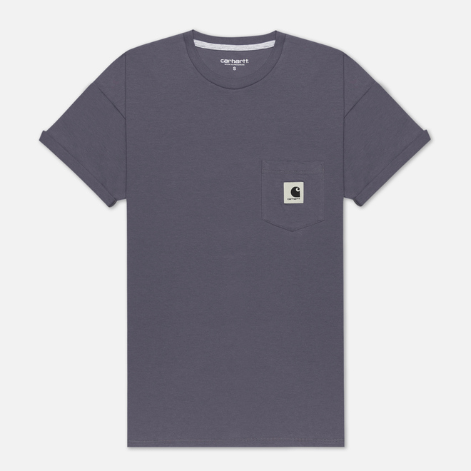 Женская футболка Carhartt WIP W' Carrie Pocket Decent Purple/Ash Heather
