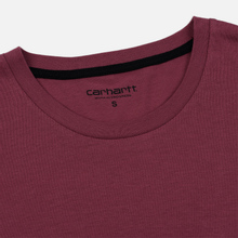 Женская футболка Carhartt WIP W' Carrie Pocket Dusty Fuchsia/Black фото- 1