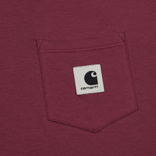 Женская футболка Carhartt WIP W' Carrie Pocket Dusty Fuchsia/Black фото- 2