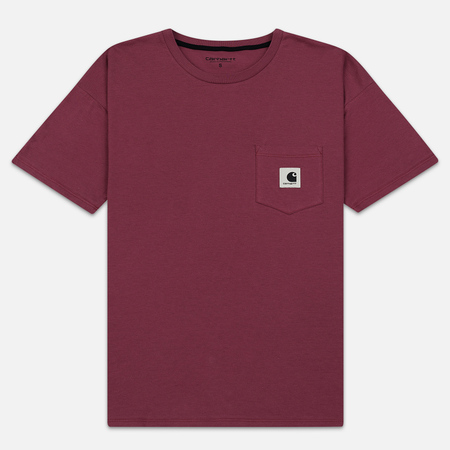 Женская футболка Carhartt WIP W' Carrie Pocket Dusty Fuchsia/Black