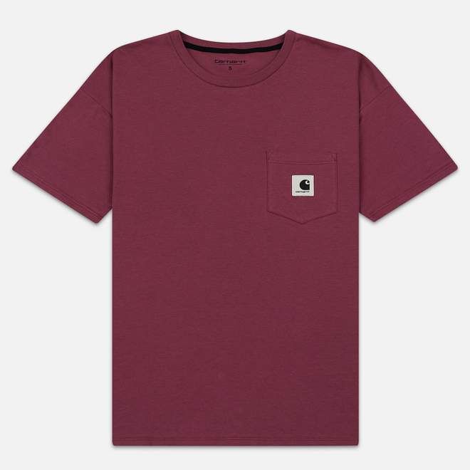 Женская футболка Carhartt WIP W' Carrie Pocket Dusty Fuchsia/Black