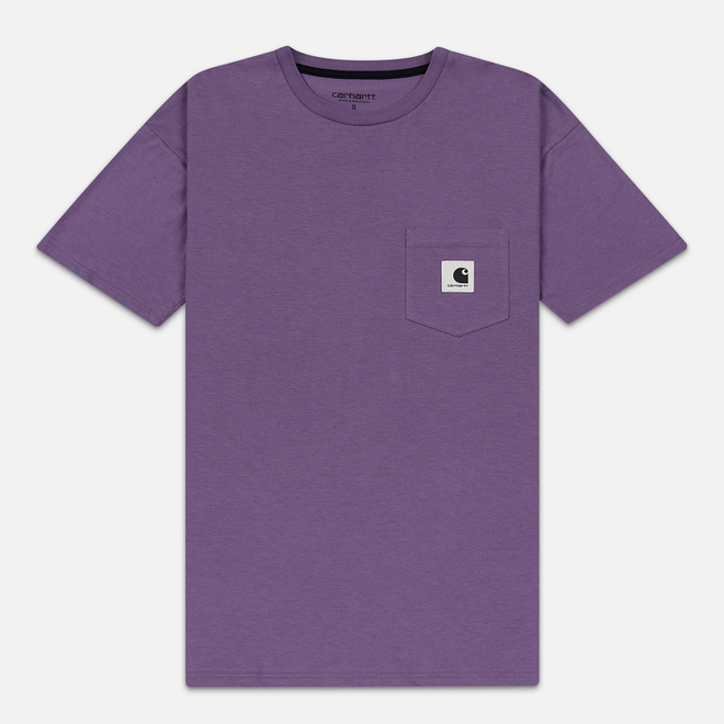 Женская футболка Carhartt WIP W' Carrie Pocket Dusty Mauve/Black