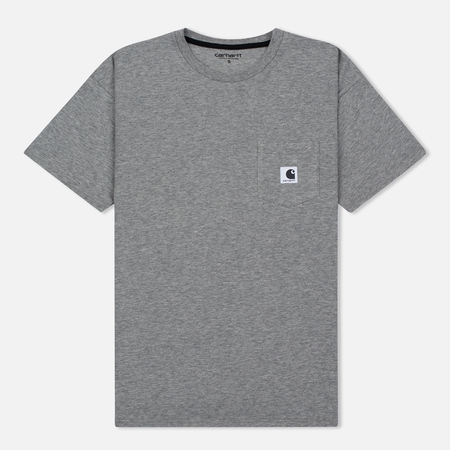 Женская футболка Carhartt WIP W' Carrie Pocket Grey Heather/Black