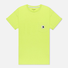 Женская футболка Carhartt WIP W' Carrie Pocket Lime/Ash Heather фото- 0