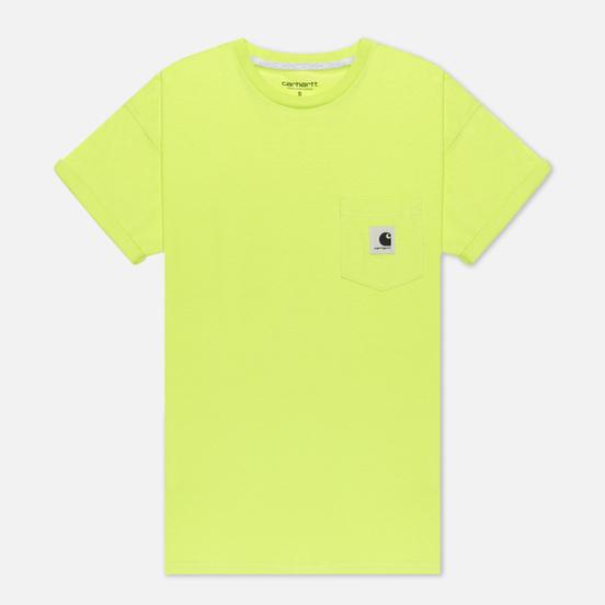 Женская футболка Carhartt WIP W' Carrie Pocket Lime/Ash Heather