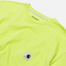 Женская футболка Carhartt WIP W' Carrie Pocket Lime/Ash Heather фото- 1