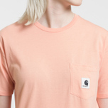 Женская футболка Carhartt WIP W' Carrie Pocket Peach/Ash Heather фото- 2