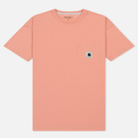 Женская футболка Carhartt WIP W' Carrie Pocket Peach/Ash Heather фото- 0
