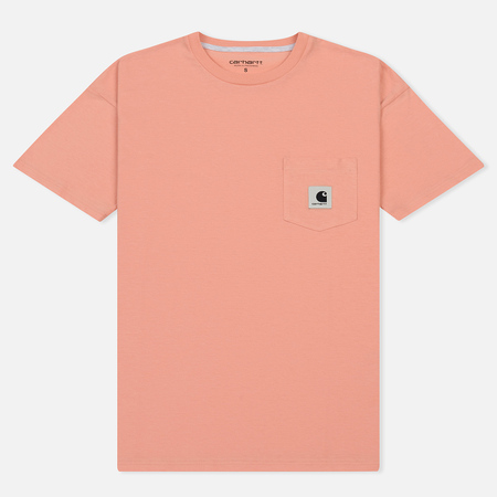 Женская футболка Carhartt WIP W' Carrie Pocket Peach/Ash Heather