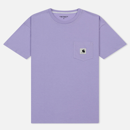 Женская футболка Carhartt WIP W' Carrie Pocket Soft Lavender/Ash Heather