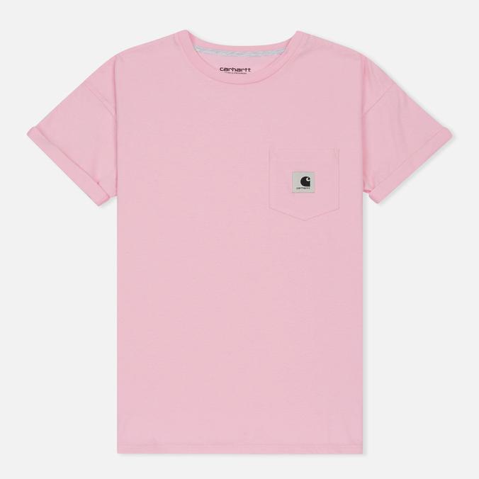 Женская футболка Carhartt WIP W' Carrie Pocket Vegas Pink/Ash Heather